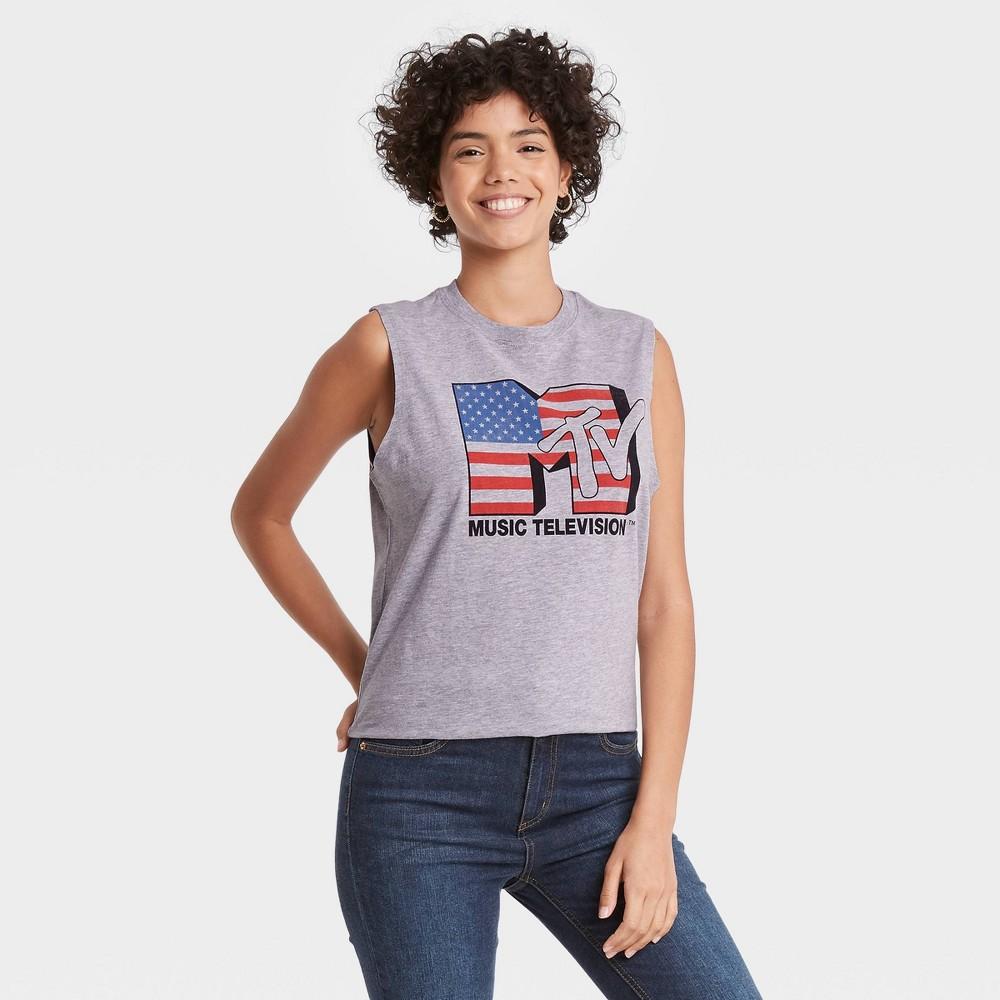 80s Tops, Shirts, T-shirts, Blouse   90s T-shirts Womens MTV Plus Size Americana Graphic Tank Top - Gray 3X $11.04 AT vintagedancer.com