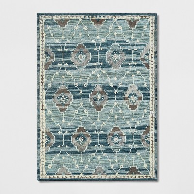 5'X7' Floral Tufted Area Rugs Teal - Threshold™