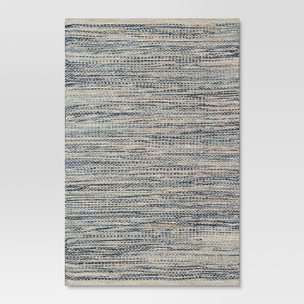 Indigo (Blue) Woven Accent Rug - 2'X3' - Threshold