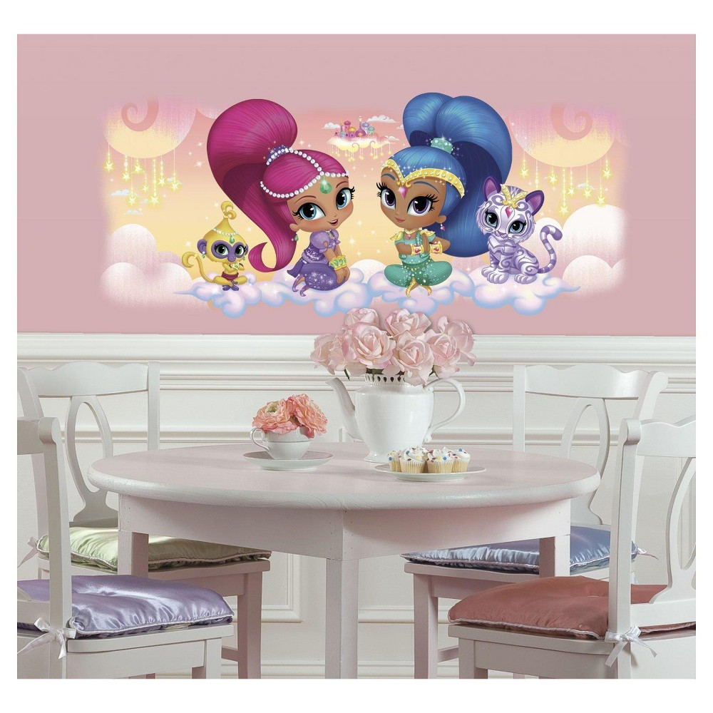 Shimmer And Shine Burst Giant Wall Decal, Multi-Colored