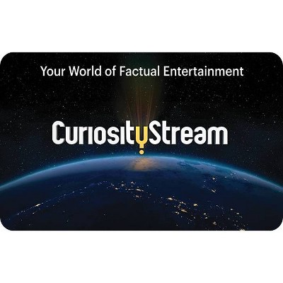 Curiosity Stream Gift Card $25 (Email Delivery)
