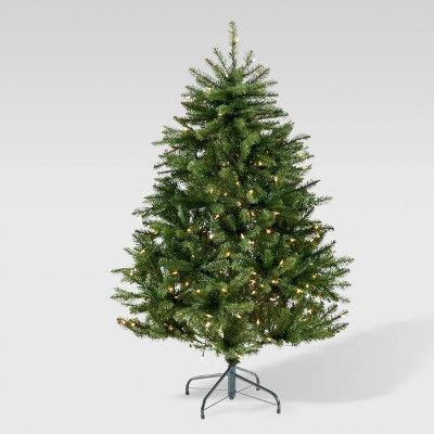 4.5ft Norway Spruce Hinged Artificial Christmas Tree Clear Lights - Christopher Knight Home