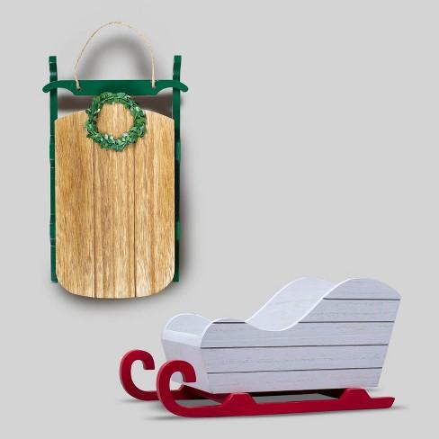 2pk Wood Decor - Bullseye's Playground™ - image 1 of 4