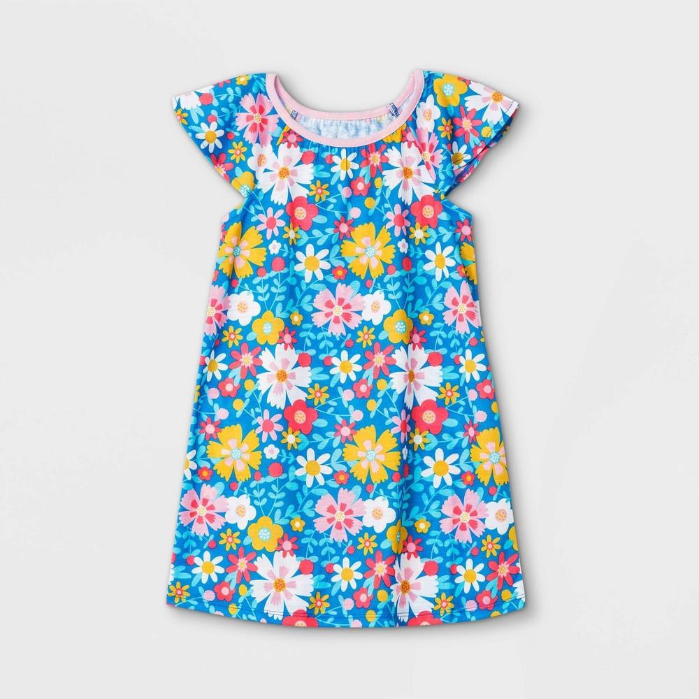 Toddler Girls 39 Flower Nightgown Cat 38 Jack 8482 Blue 12m