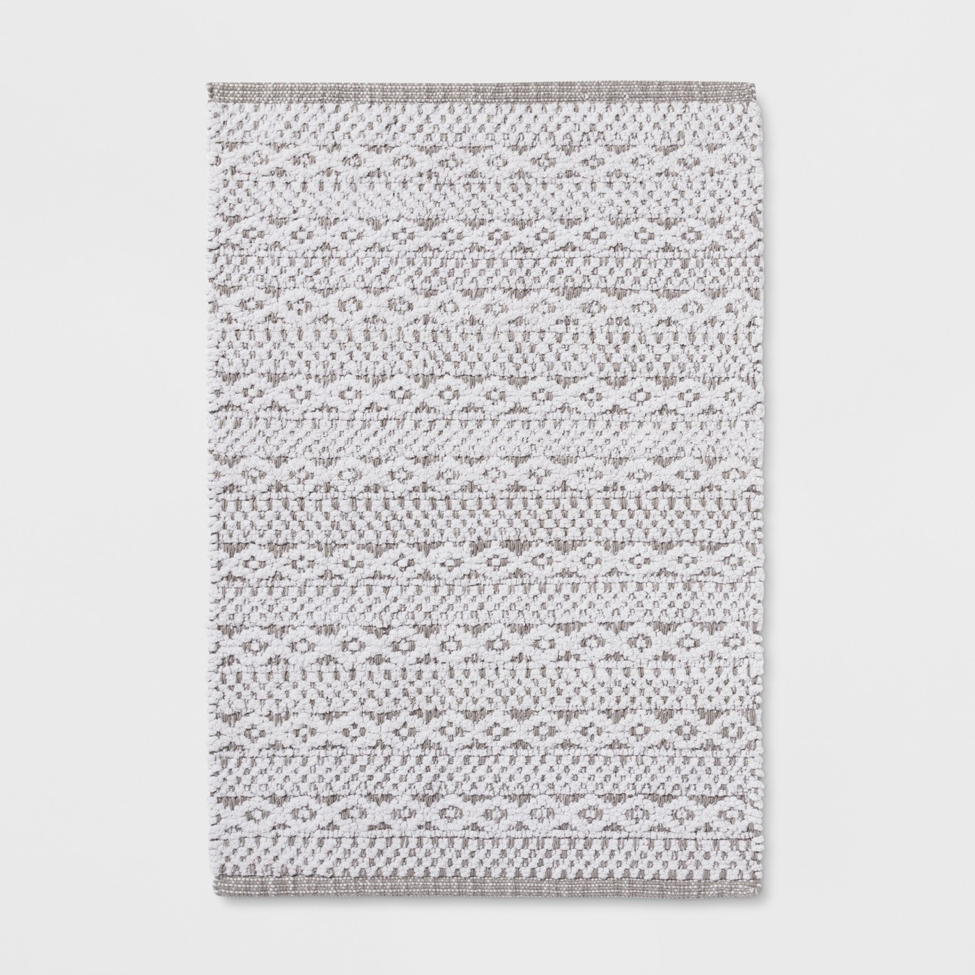 Chenille Bath Mat Fresh White - Threshold™ - image 1 of 2