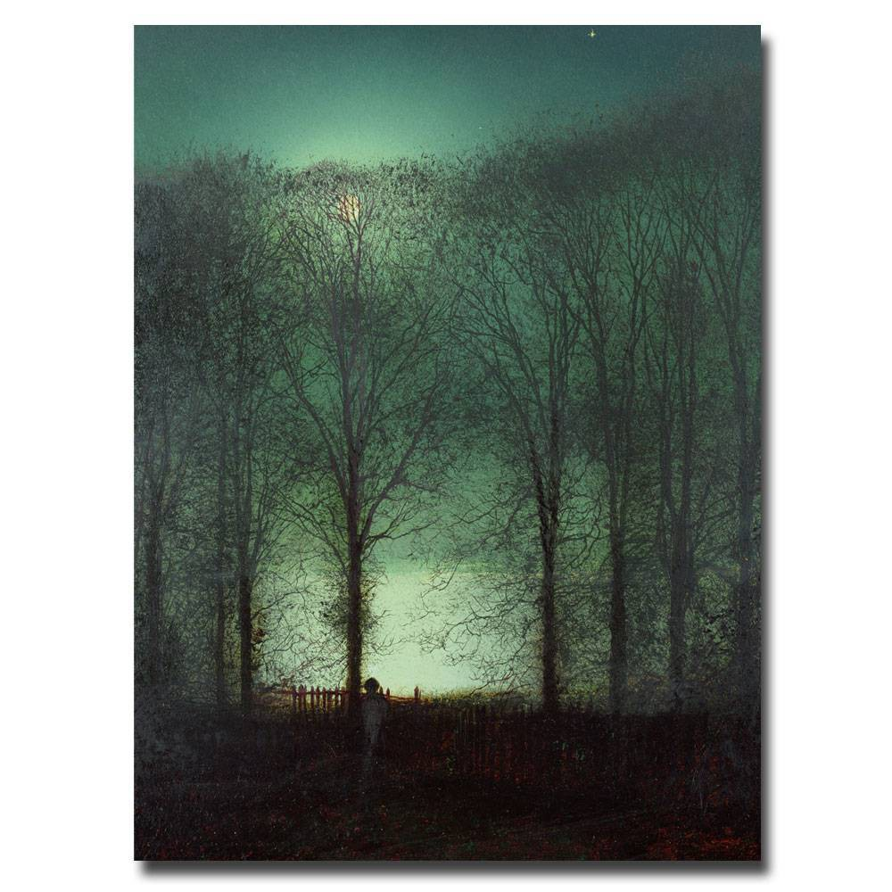 'Figure in the Moonlight' by John Atkinson Grimshaw Ready to Hang Canvas Wall Art, Multi-Colored
