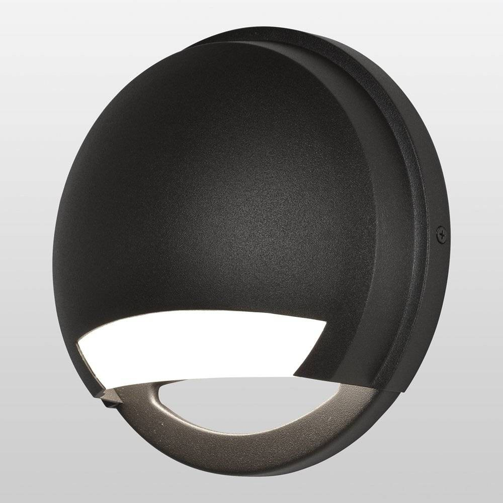 Image of Avante LED Outdoor Wall Light with Opal Glass Shade Bronze - Access Lighting