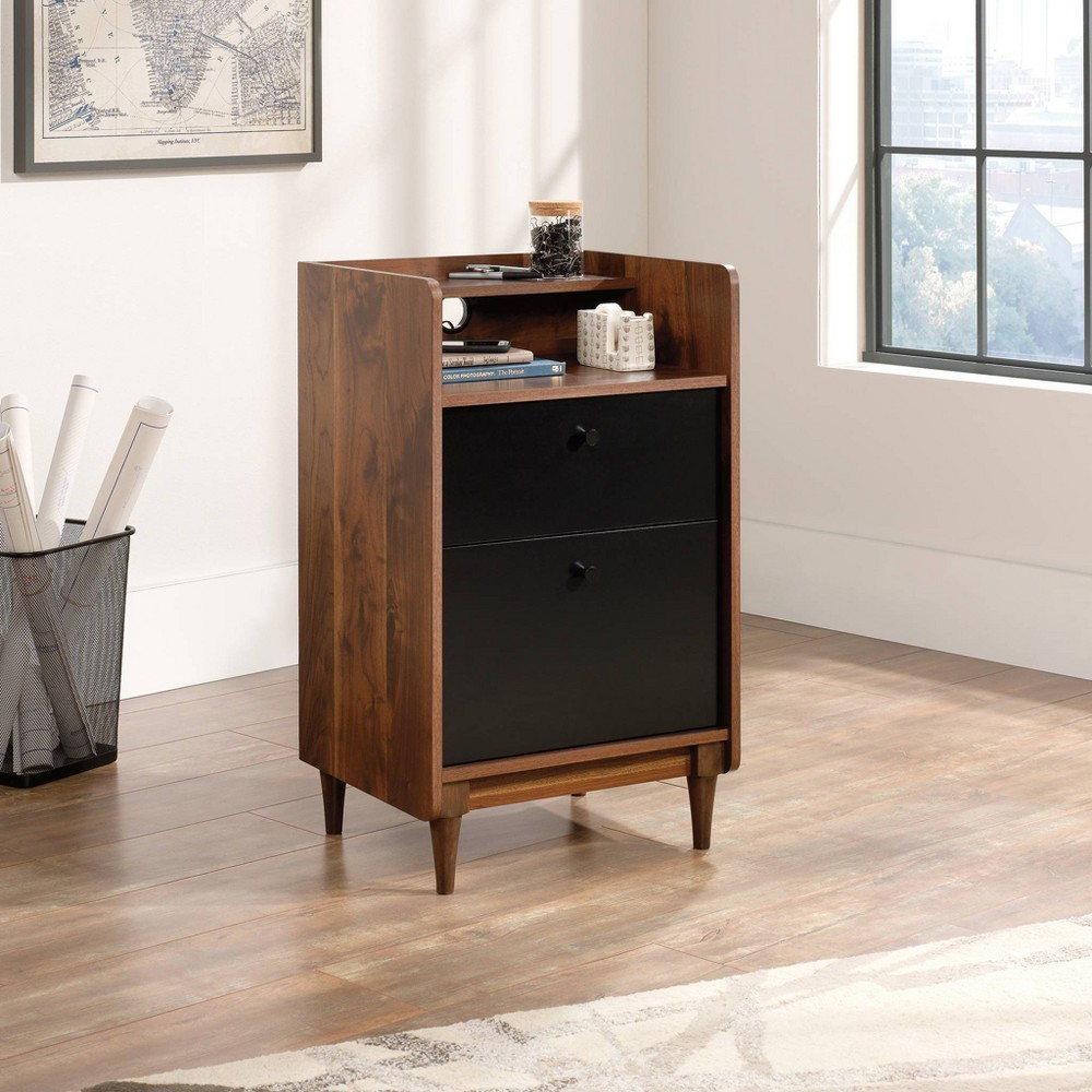 Image of 2 Drawer Harvey Park Stand with File Grand Walnut - Sauder, Brown