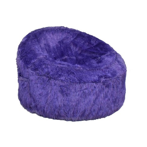 Outstanding Papasan Faux Fur Inflatable Chair Purple Iron Cloud Inzonedesignstudio Interior Chair Design Inzonedesignstudiocom