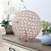 """10"""" Crystal Ball Sequin Table Lamp Rose Gold - Elegant Designs - image 3 of 4"""