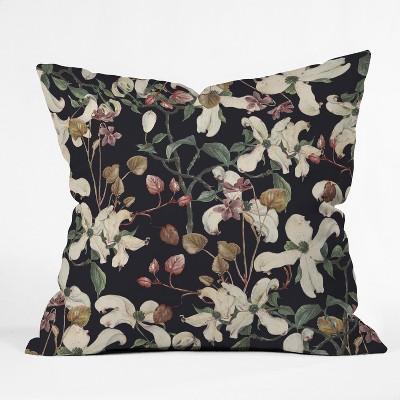 CayenaBlanca Herbolarium Square Throw Pillow Black - Deny Designs