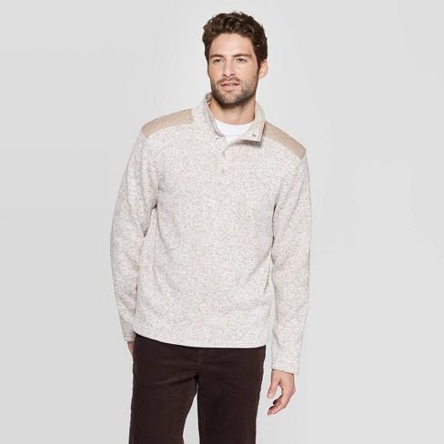 Men's Regular Fit 1/4 Zip Sweater Fleece Pullover - Goodfellow & Co™ - image 1 of 3