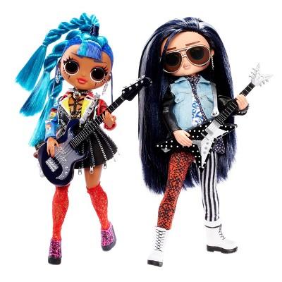 L.O.L. Surprise! O.M.G. Remix Rocker Boi and Punk Grrrl 2pk – 2 Fashion Dolls with Music