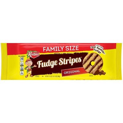 Keebler Fudge Stripes Family Size Cookies - 17.3oz