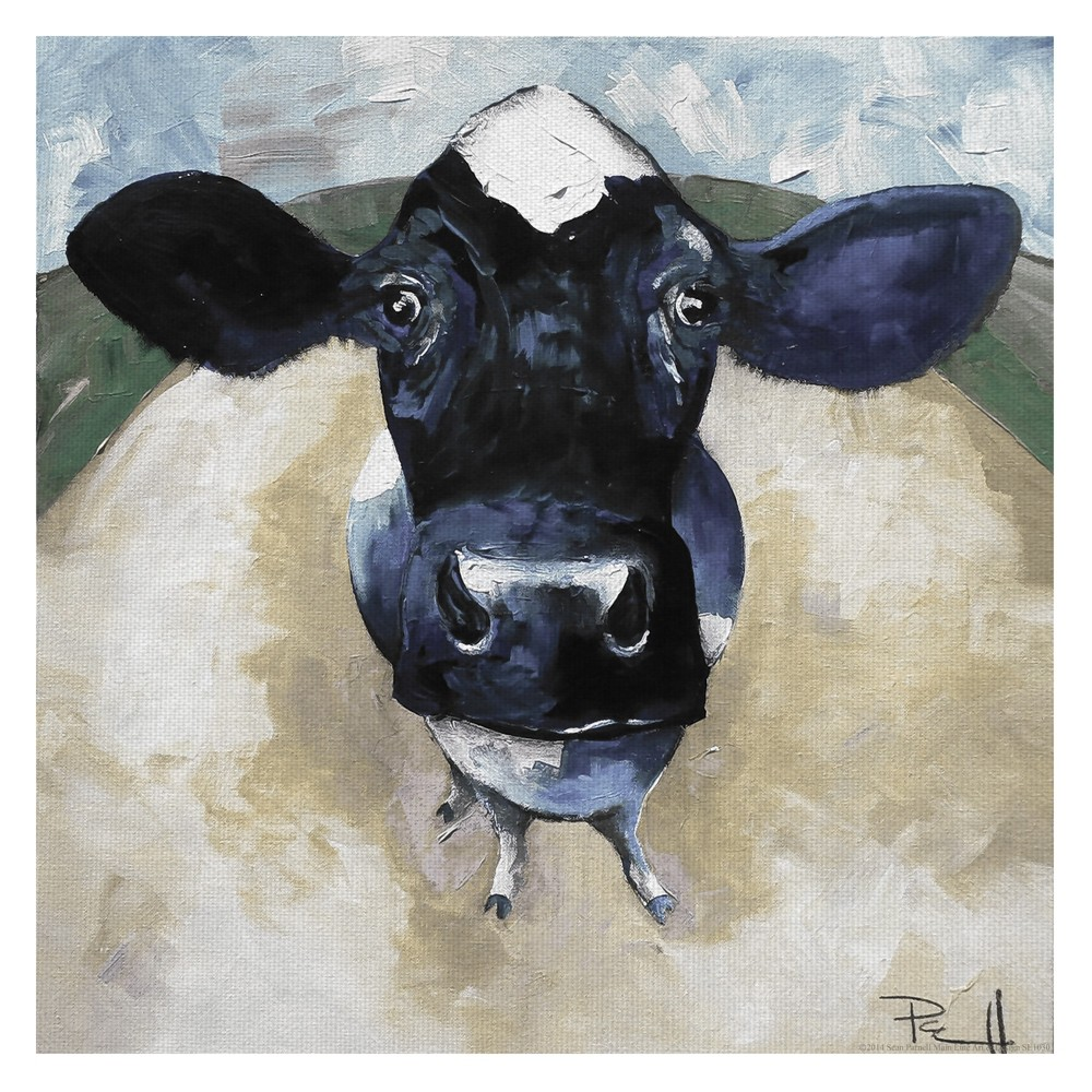 """Image of """"24""""""""x24"""""""" Cow Tale Light By Sean Parnell Art On Canvas - Fine Art Canvas, Multi-Colored"""""""