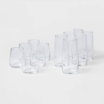 12pc Glass Cranston Double Old Fashion and Cooler Glasses Set - Threshold™