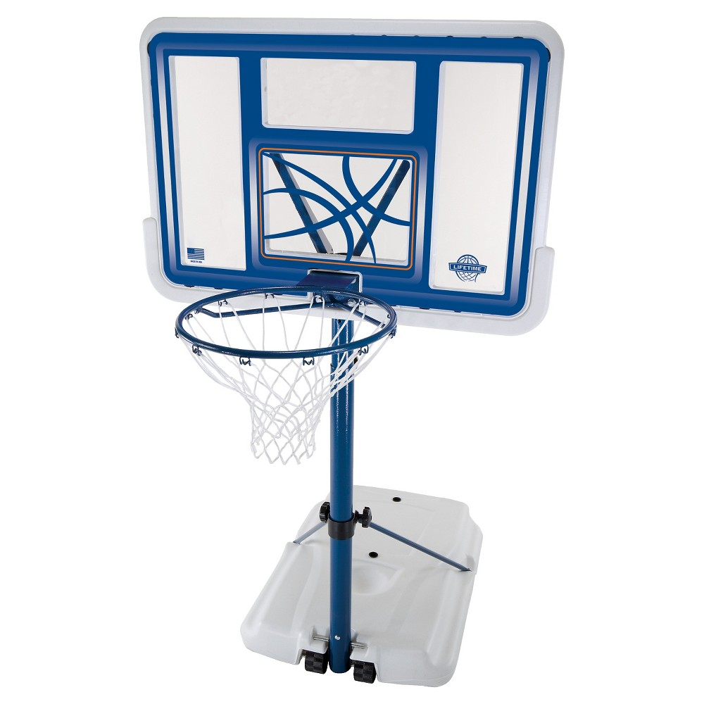 Lifetime Fusion 44 Poolside Basketball Hoop, Blue/White