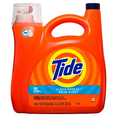 Tide Clean Breeze HE Liquid Laundry Detergent - 138 fl oz