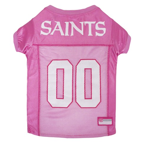 NFL Pets First Pink Pet Football Jersey - New Orleans Saints - image 1 of 2