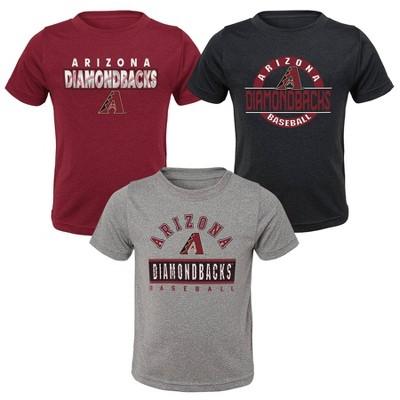 MLB Arizona Diamondbacks Toddler Boys' 3pk T-Shirt Set