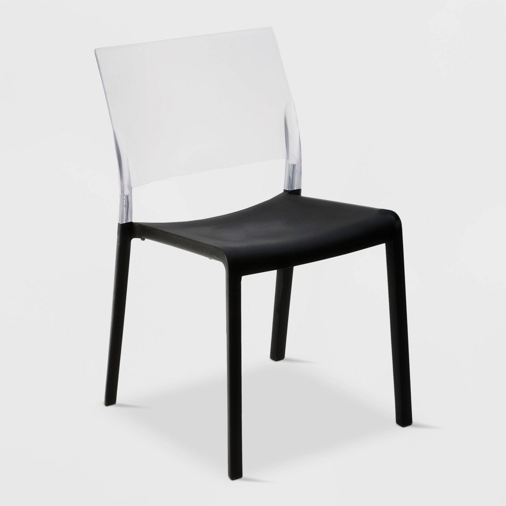 Image of Fiona 2pk Translucent Patio Chair - Black - RESOL