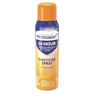 Microban 24 Hour Disinfectant Sanitizing Spray, Citrus Scent - 15 fl oz