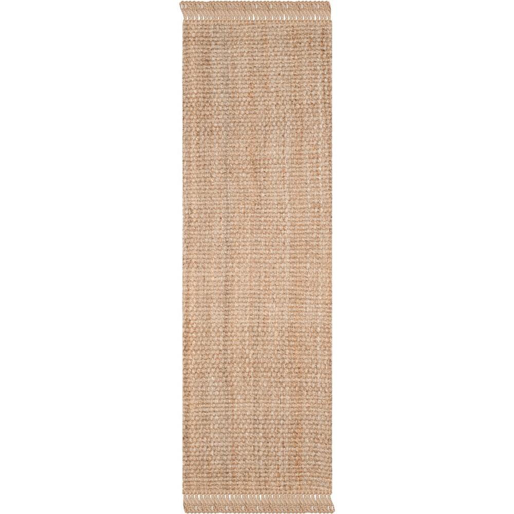 2'6X14' Solid Woven Runner Light Gray - Safavieh, White