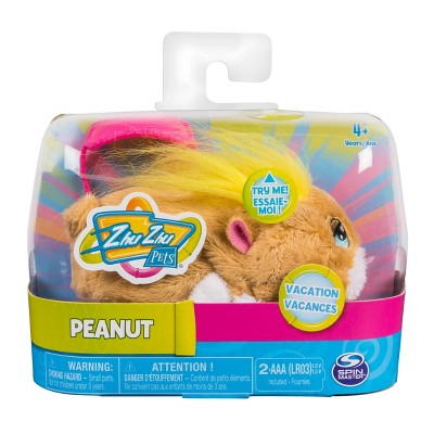 """Zhu Zhu Pets - Vacation Peanut 4"""" Hamster Toy with Sound and Movement"""