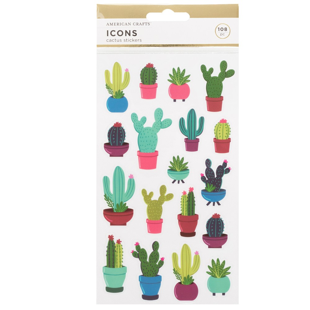 Image of 108pc Cactus Stickers - American Crafts