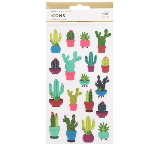 108pc Cactus Stickers - American Crafts - image 1 of 3