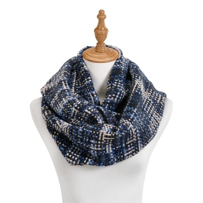 DEMDACO Blue Woven Threads Infinity Scarf One Size - Blue