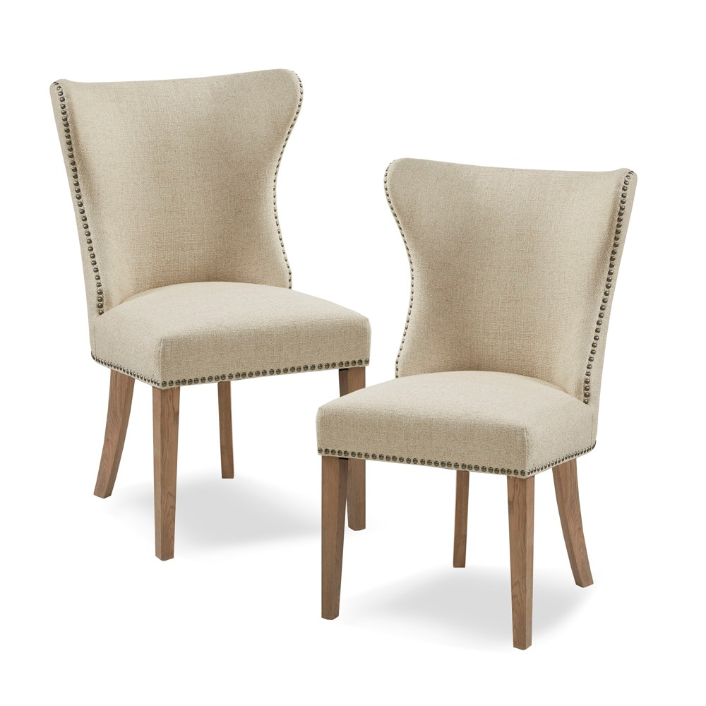 Set of 2 Luther Dining Side Chair Cream (Ivory)