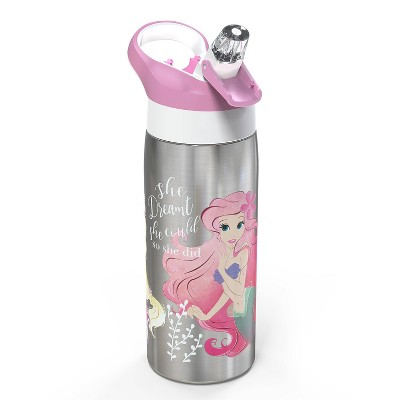 Disney Princess 19oz Stainless Steel Water Bottle Pink/Black - Zak Designs