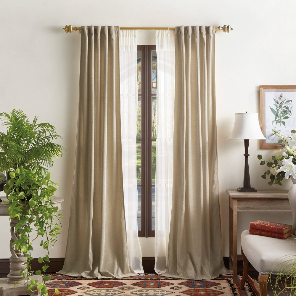 """Coupons Set of 2 84""""x37"""" Naples Chenille Light Filtering Curtain Panels  - Martha Stewart"""