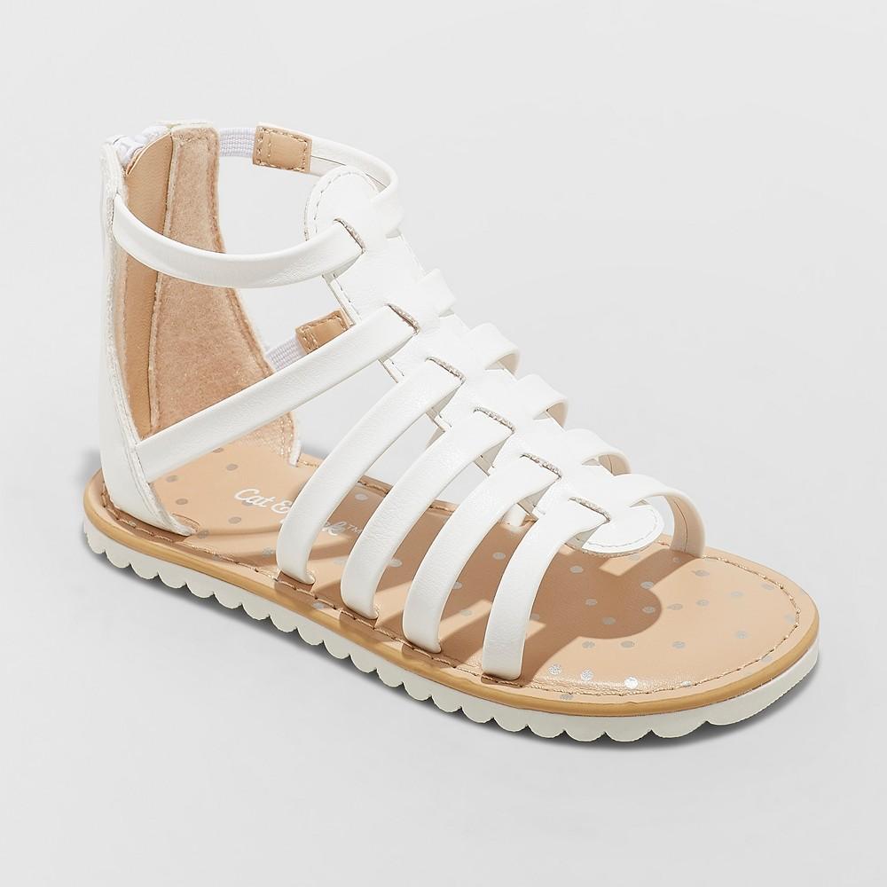 Toddler Girls' Fionna Gladiator Sandals - Cat & Jack White 11