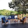 Abbington Teak Patio Lounge Chair with Cushion - Cambridge Casual - image 2 of 4