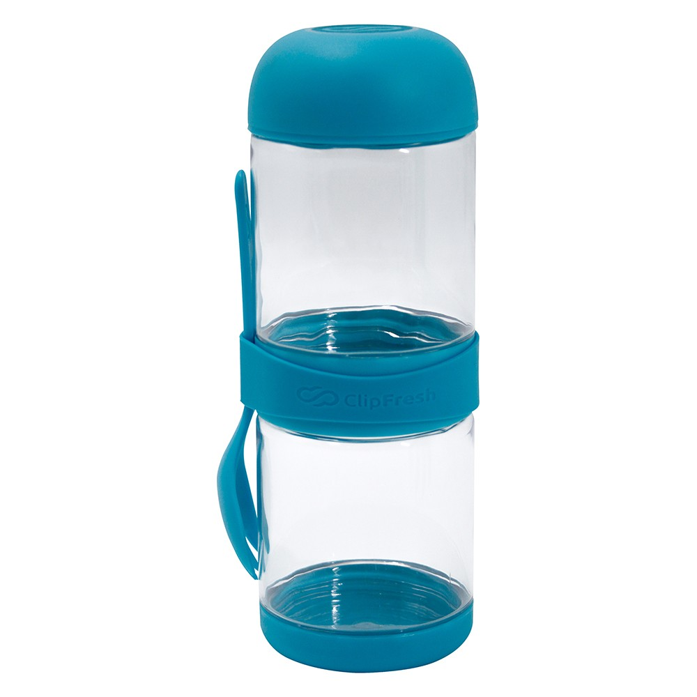 Image of ClipFresh Tritan 22.4oz Snack 2 Go Teal, Blue