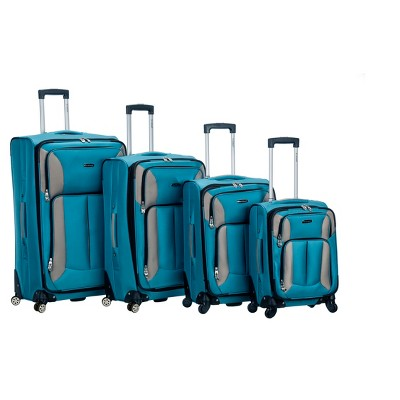 Rockland Impact 4pc Spinner Luggage Set - Turquoise
