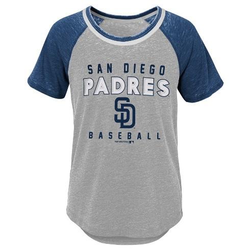 MLB San Diego Padres Girls' Burnout Alt T-Shirt - image 1 of 1