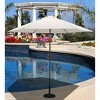 9' Round Aluminum Patio Umbrella Antique White - image 2 of 2