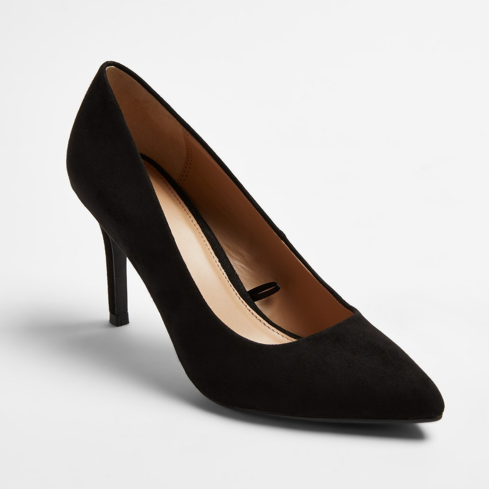 Women's Gemma Pointed Toe Pumps - A New Day Black 9.5