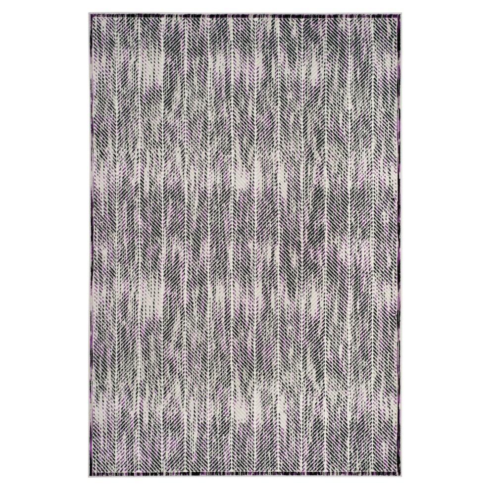 Gray/Purple Herringbone Loomed Area Rug 8'X10' - Safavieh