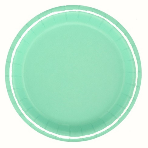 """8.5"""" 20ct Solid Disposable Dinner Plates Turquoise - Spritz™ - image 1 of 1"""