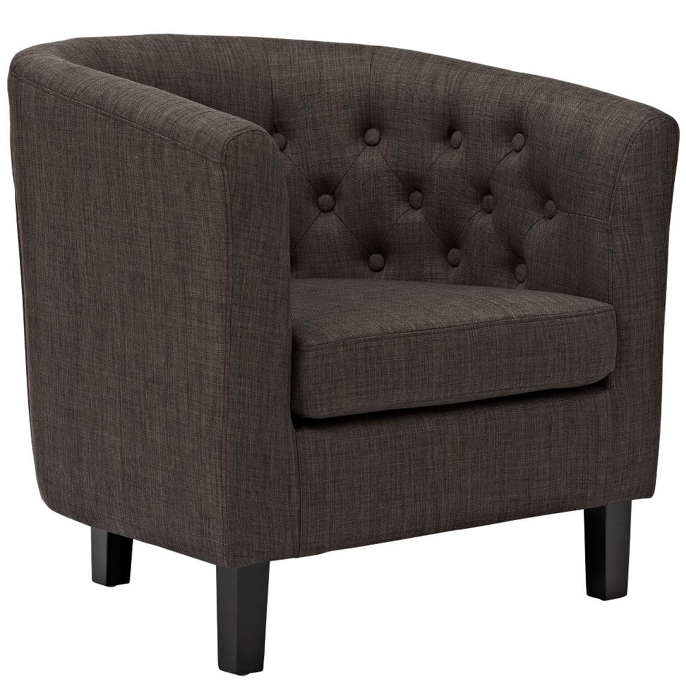 Prospect Upholstered Armchair Brown - Modway
