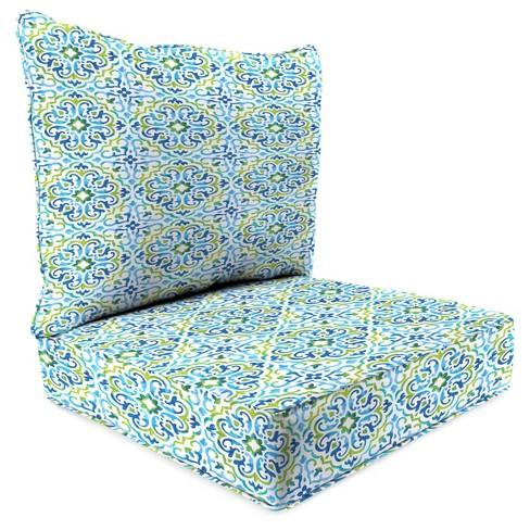 Outdoor Set Of 2pc Deep Seat Chair Cushion In Reina Capri Jordan Manufacturing