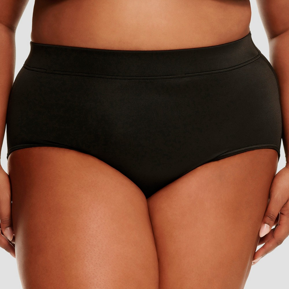 Women's Slimming Control High Waist Bikini Bottom - Dreamsuit by Miracle Brands Black 22W