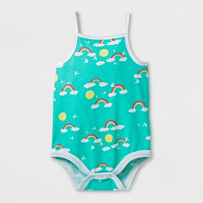 Baby Girls' Bodysuit - Cat & Jack™ Iridescent Green 0-3M
