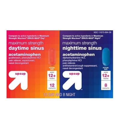 Day & Night Maximum Strength Sinus Relief Caplets - 20ct - up & up™