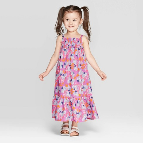 71a1fa08ee1a3 Toddler Girls' Printed Maxi Dress - Cat & Jack™ Purple