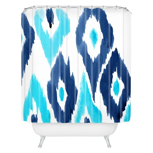 Diamond Blur Shower Curtain Blue - Deny Designs® - image 1 of 4